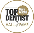 Top dentist hall of fame logo