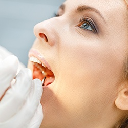 Patient receiving dental care